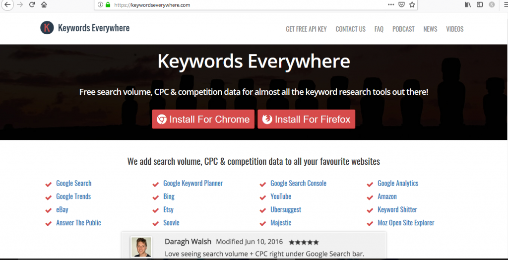 understanding keyword research with keywords everywhere