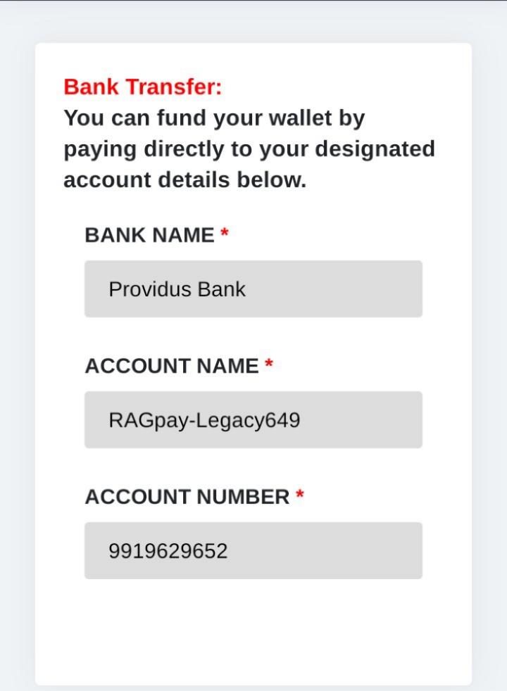 RAGP E-wallet