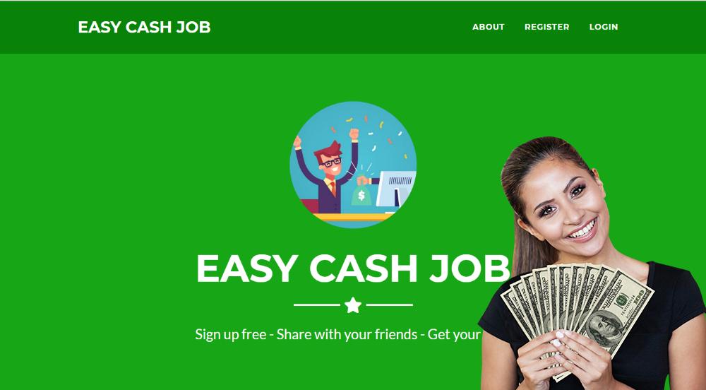 how easy cash job online works