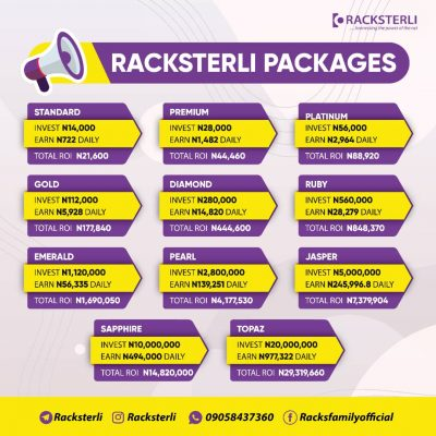 Racksteri Investment Packages