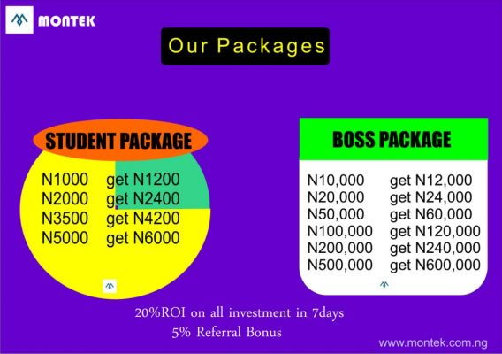 Montek Investment Packages